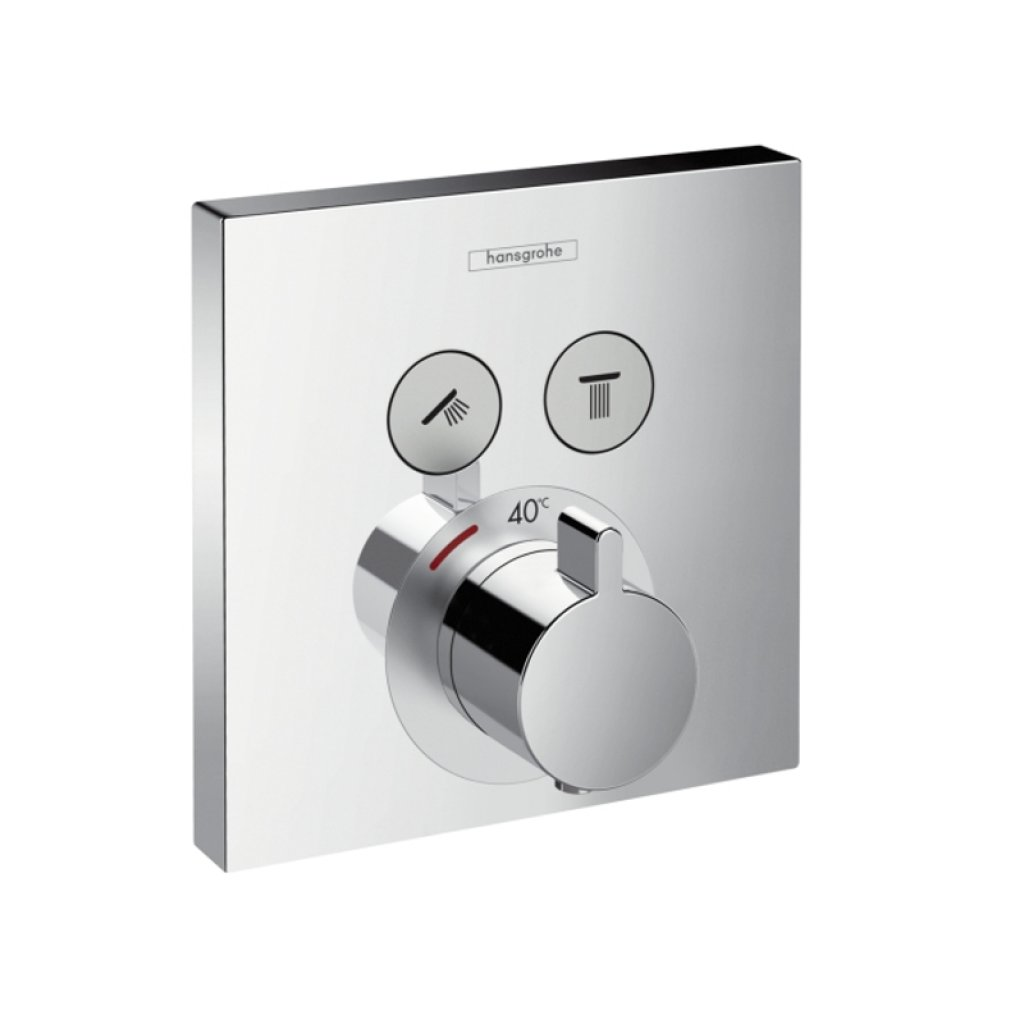 Hansgrohe Thermostat ShowerSelect   2 Outlets