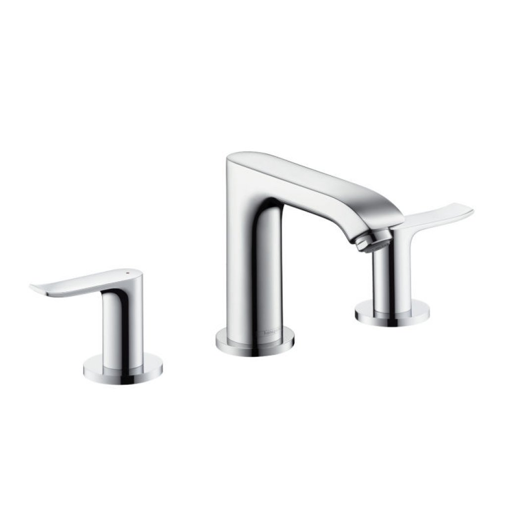 Hansgrohe Metris 3 Hole Basin Mixer Set With 116mm Spout
