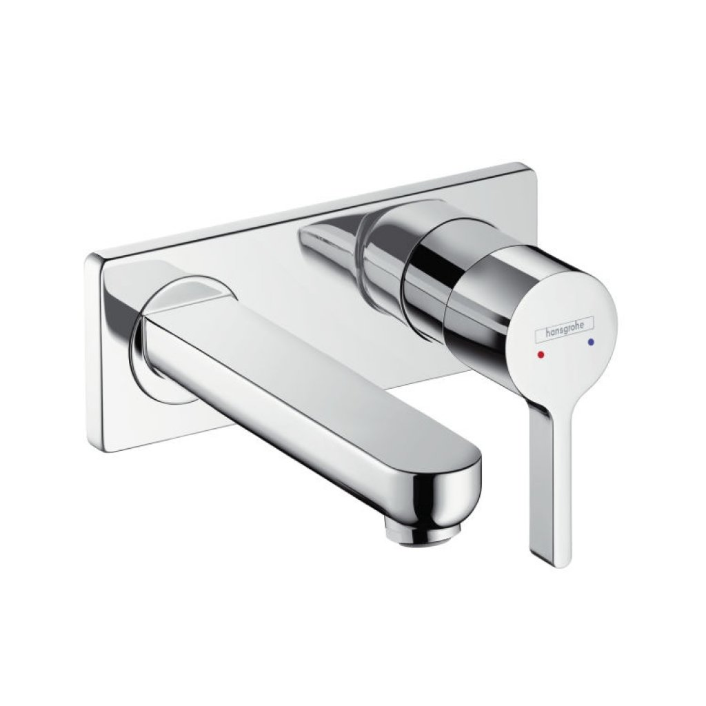 Hansgrohe Metris S Single Lever Basin Mixer With Short 165mm Spout
