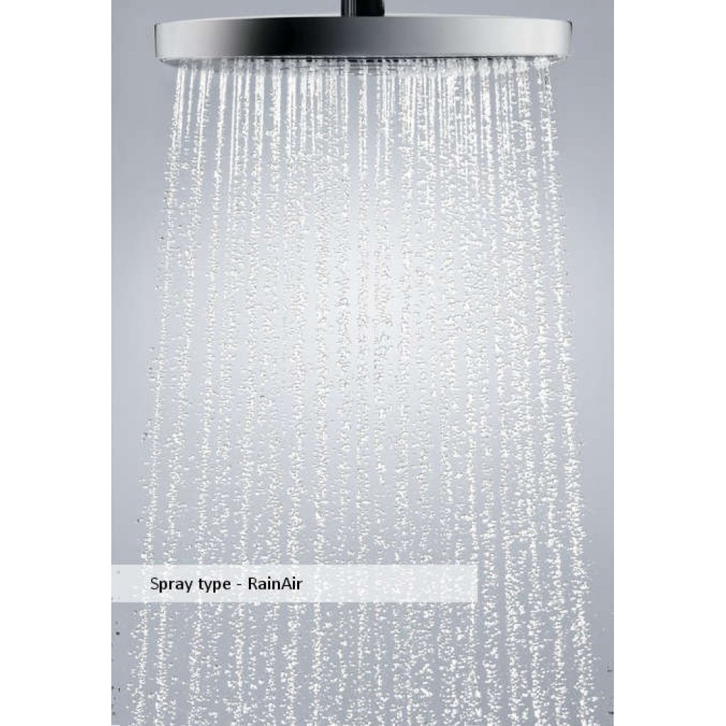 Hansgrohe Raindance Select E 300 2jet Ceiling Mounted Overhead Shower With Two Spray Types