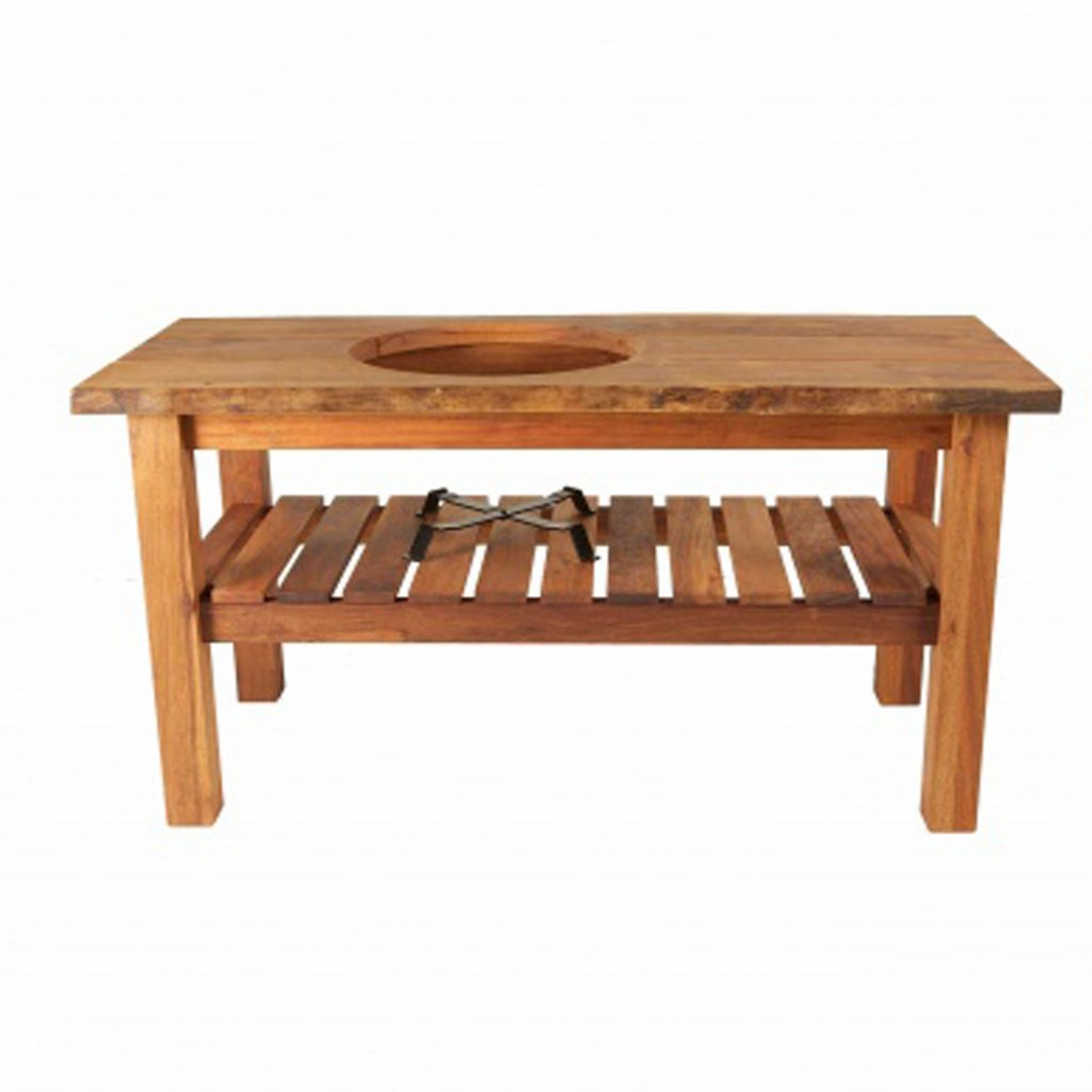 Big Green Egg - Large Royal Mahogany Table - Natural