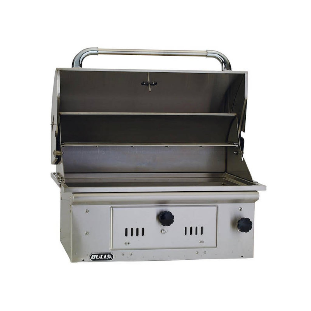 Bull BBQs - Bull Bison Built-in Charcoal BBQ Grill in Stainless Steel