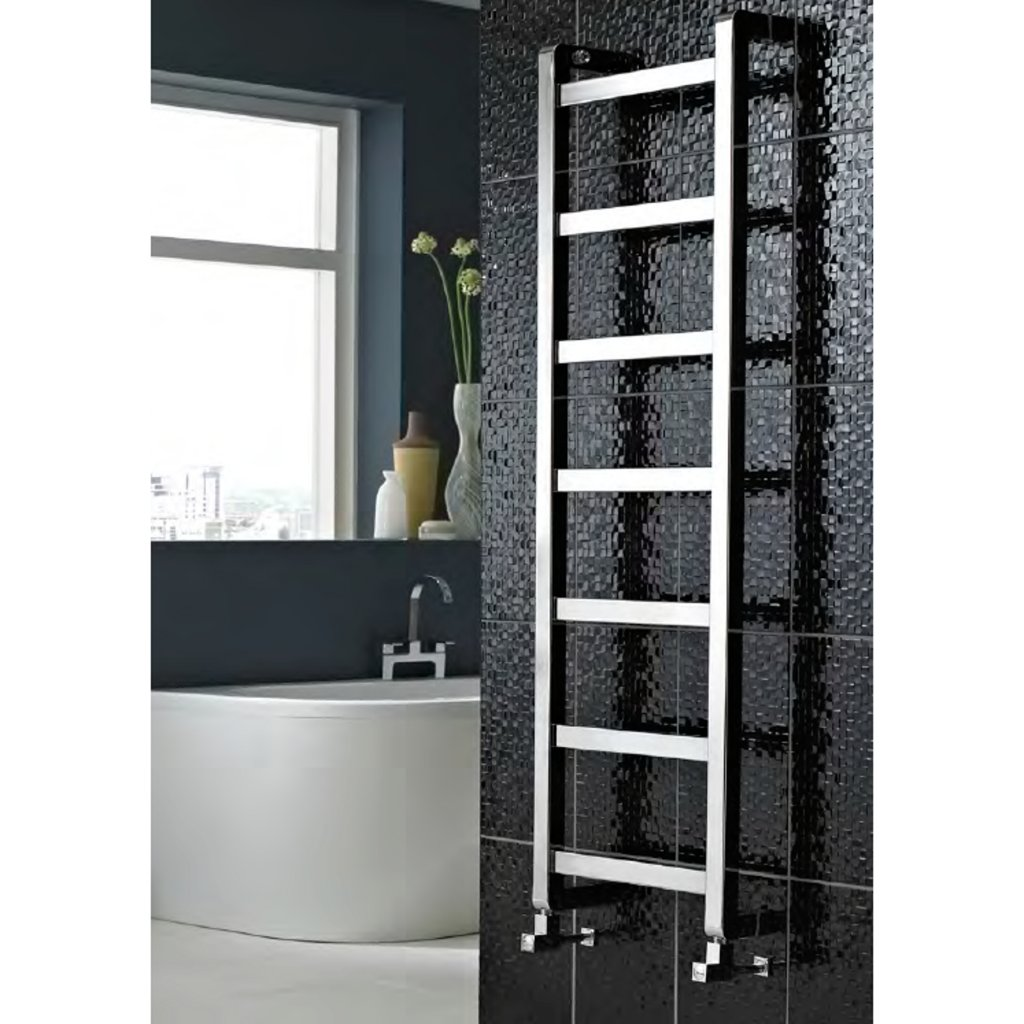 Vogue Boxa Contemporary Heated Towel Rail Chrome/Stainless Steel