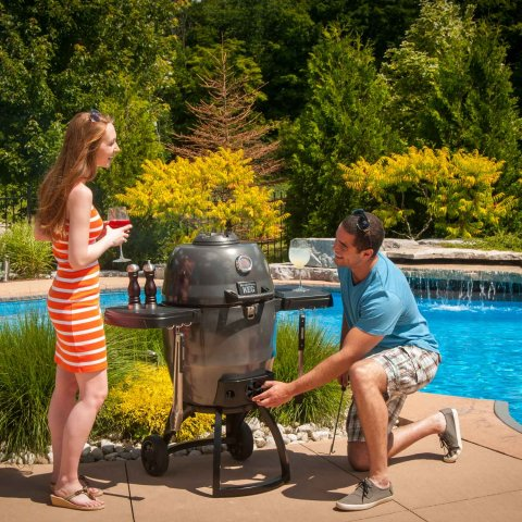 Broil King BBQ - Keg 5000 - With Removable Shelves, Cast Iron Cooking Grid & Lifetime Guarantee
