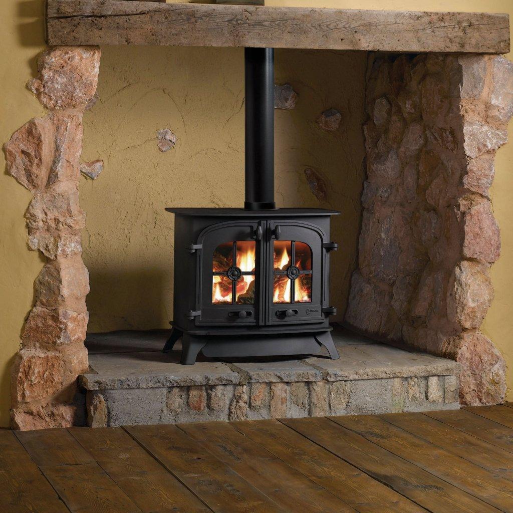 Yeoman Dartmoor Double Door Stove, Natural Gas, Balanced Flue