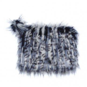 67edb3b1f3 Helen Moore Faux Fur Pom Pom Clutch Bag - Denim