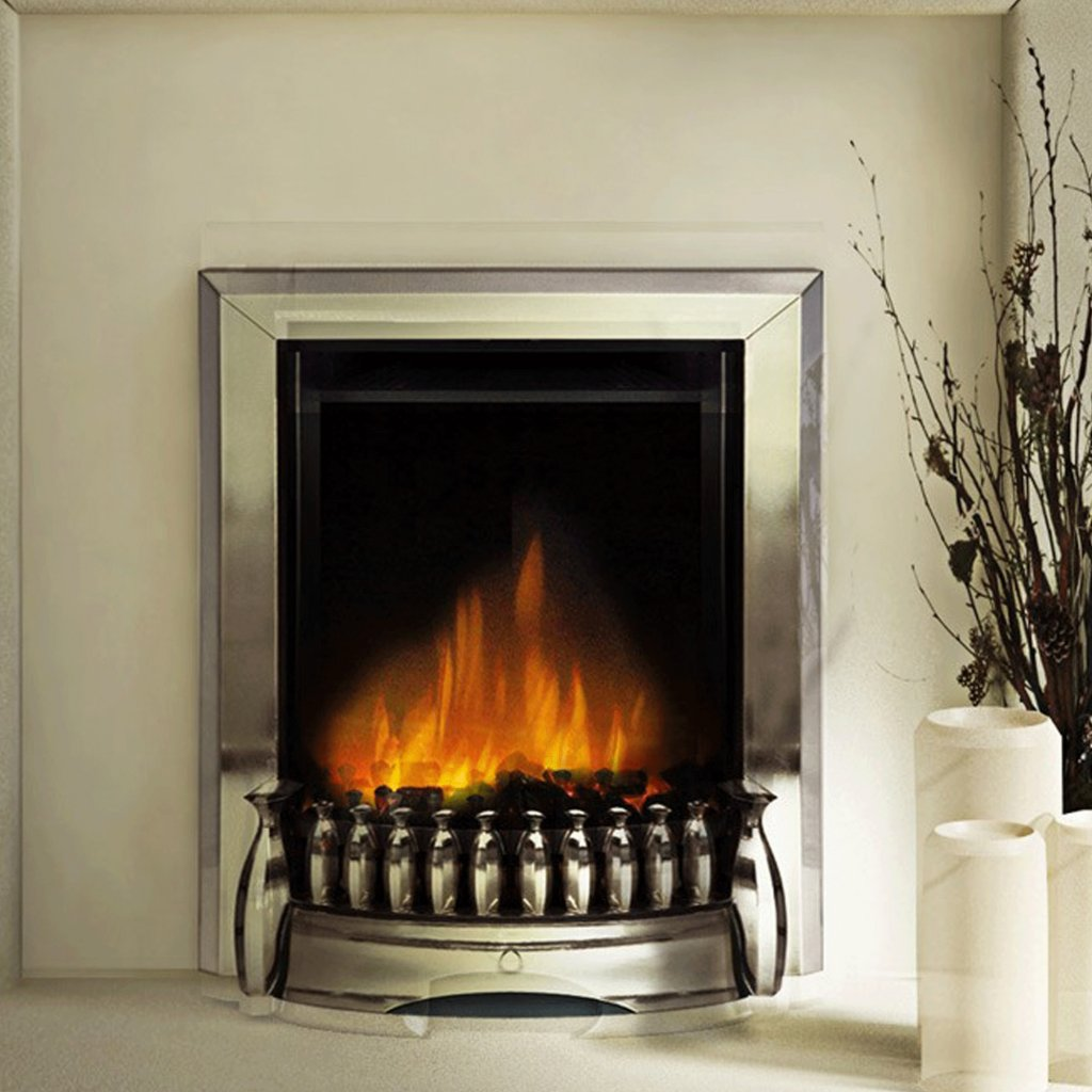 Dimplex Optiflame Exbury Chrome Inset Electric Fire