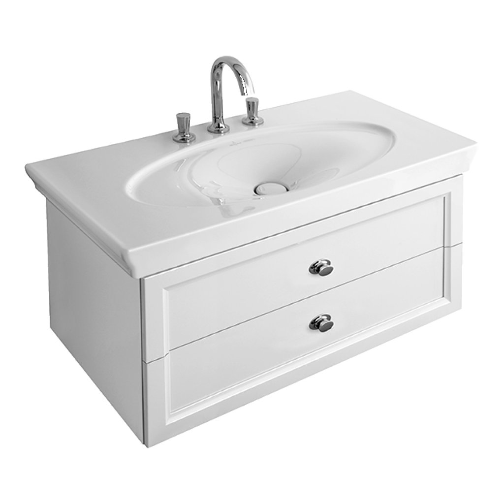 Villeroy & Boch La Belle Wash Basin And Vanity Unit - Available In 1 Or 3 Tap Hole