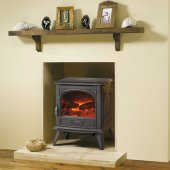 Dovre 280 Cast Iron Electric Stove, Matt Black