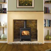 Dovre 280 Matt Black Cast Iron Gas Stove, Conventional Flue, With Optional Remote Control
