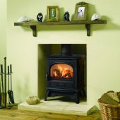 Dovre 280 Matt Black Cast Iron Gas Stove, Balanced Flue