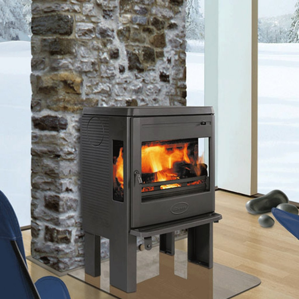 Dovre Astroline 360CB Wood Burning Stove With 3 Glass Panels