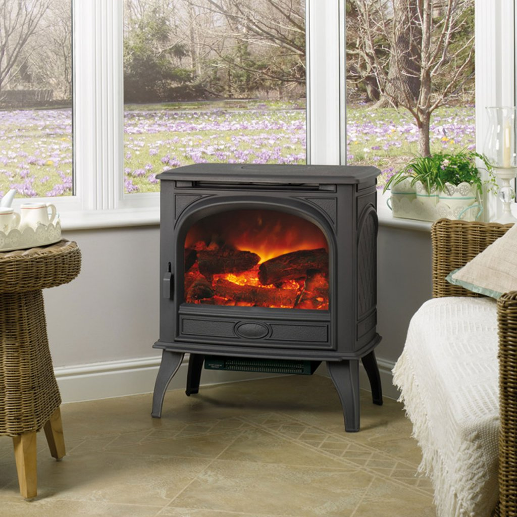 Dovre 425 Matt Black Cast Iron Electric Stove