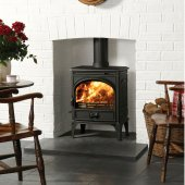Dovre 425 Matt Black Single Door Multi Fuel Stove
