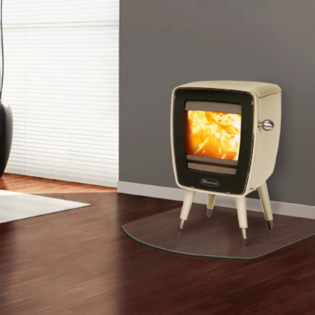 Dovre Vintage 30 Wood Burning Stove In White Enamel With Optional Smoke Control Kit