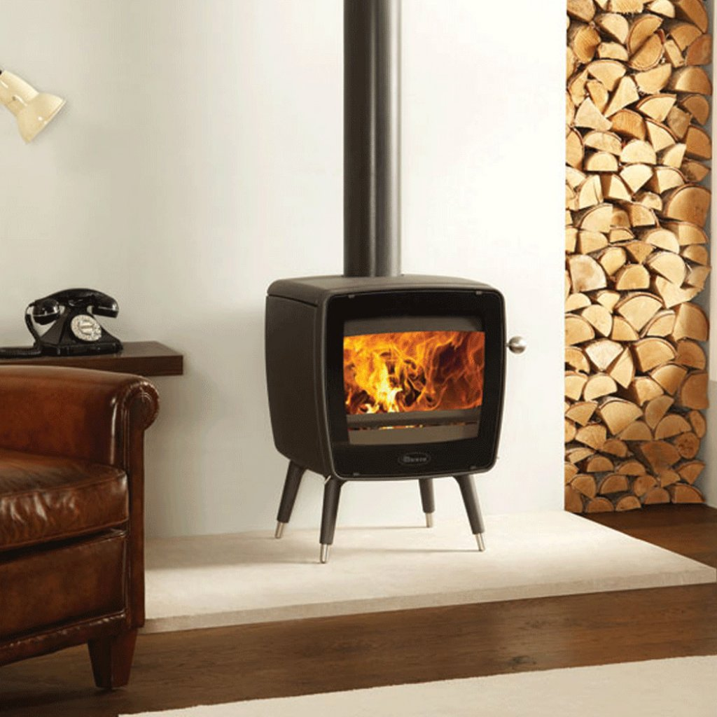 Dovre Vintage 35 Matt Black Wood Burning Stove