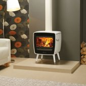 Dovre Vintage 35 White Enamel Wood Burning Stove