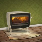 Dovre Vintage 50 White Enamel Wood Burning Stove