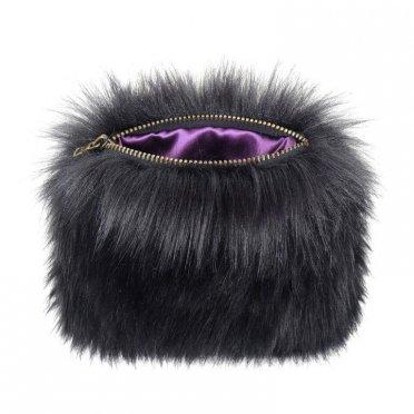 e333153bd0 Helen Moore Faux Fur Coin Purse - Ebony