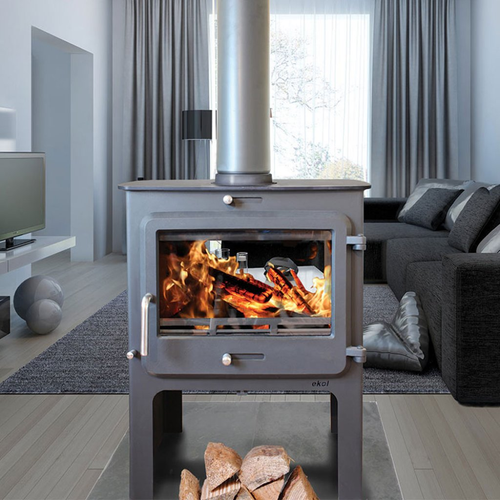 Ekol Clarity Double Sided Highline Multi Fuel Stove