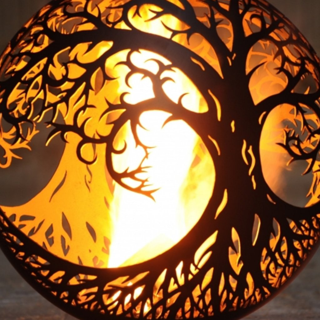 The FirePit Company - Tree Of Life Ellipse Fire Pit