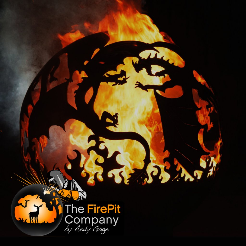 Fire Pits - The FirePit Company - Fighting Dragons Firepit - Available in 3 sizes