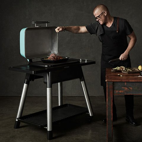 Everdure by Heston Blumenthal - FORCE Gas BBQ with Hood - Mint