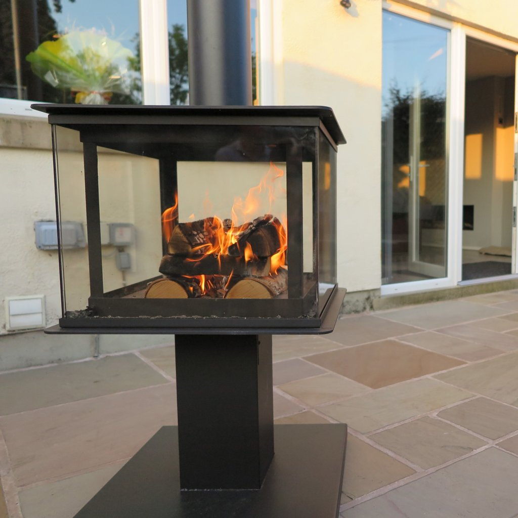 Outdoor Fires & Stoves - Legend Fires - Garden Cube Wood Burning Stove