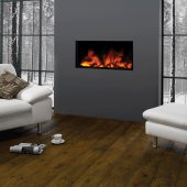 Gazco Fires, Studio Inset 80, Electric Frameless Fire with Remote Control