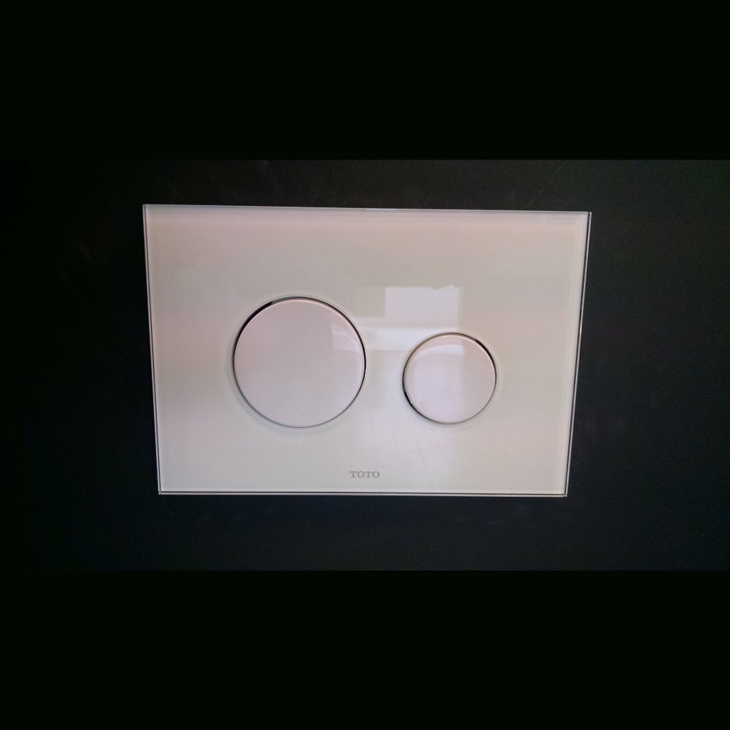 TOTO Toilets - Glass Flush Plate For Wall Mounted Installation