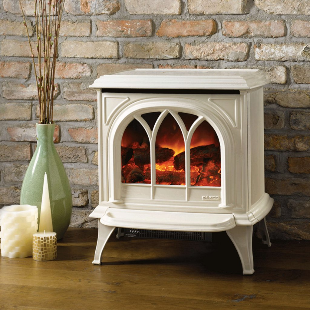 Huntingdon 30 Ivory Enamel Electric Stove With Remote Control & Optional Door Detail