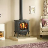 Huntingdon 40 Matt Black - Wood Burner or Multi Fuel Stove
