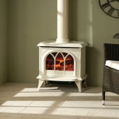 Huntingdon 40 Ivory Electric Stove