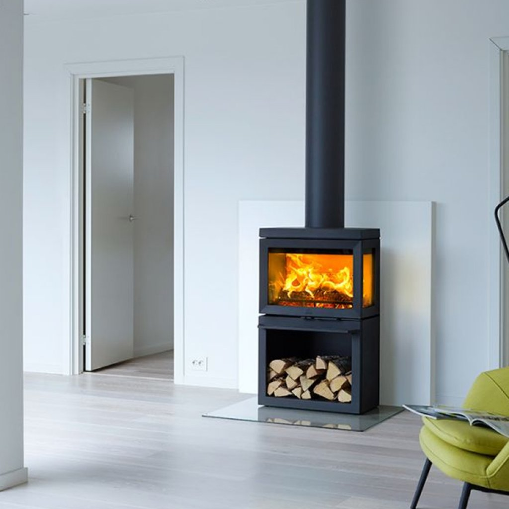 Jotul F520 3 Sided In Black A Bell Wood Burning Stoves