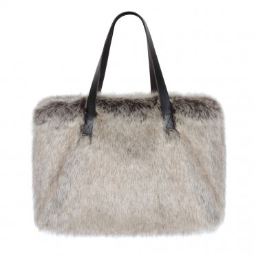 da81c587bd Helen Moore Faux Fur Kersey Bag - Truffle