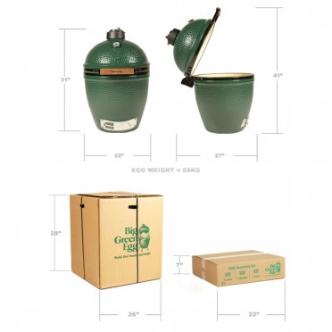 ... Big Green Egg   Large Mahogany Table Bundle