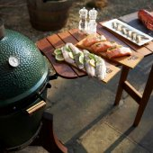 Big Green Egg - Medium BBQ Mahogany Bartop Bundle