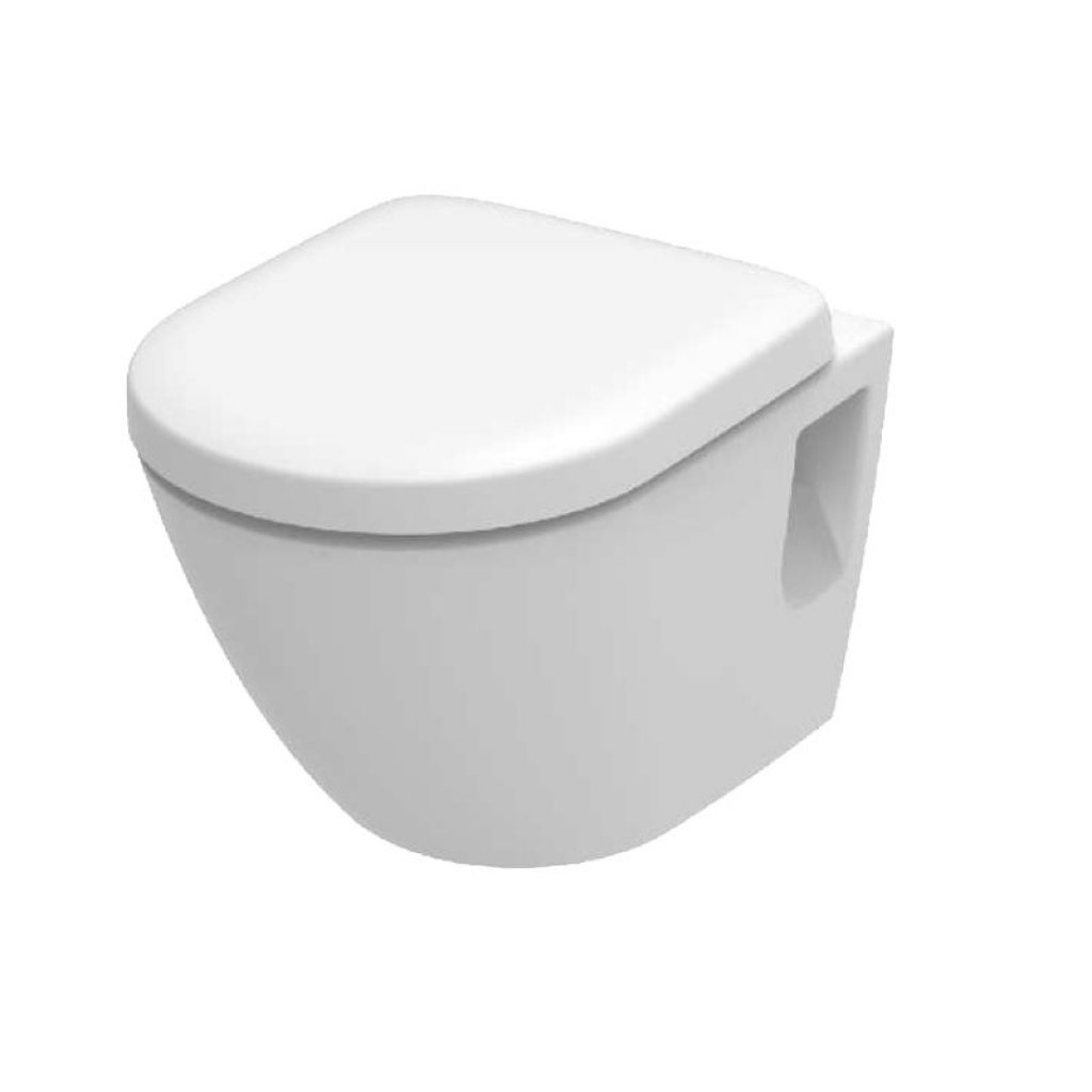TOTO Toilets - NC Wall Mounted Toilet With Optional Seat