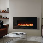 Gazco Radiance 100W Wall Mounted Black Glass Electric Fire