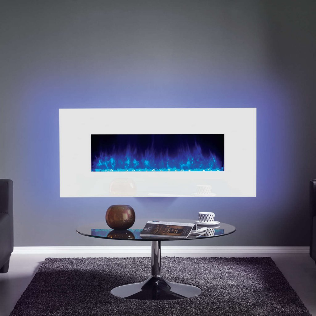 Gazco Radiance 100W Wall Mounted White Glass Electric Fire