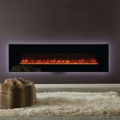 Gazco Radiance 190W Wall Mounted Black Glass Electric Fire