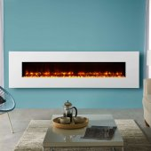 Gazco Radiance 190W Wall Mounted White Glass Electric Fire