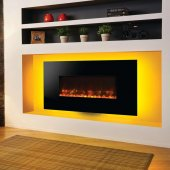 Gazco Radiance 80W Wall Mounted Black Glass Electric Fire