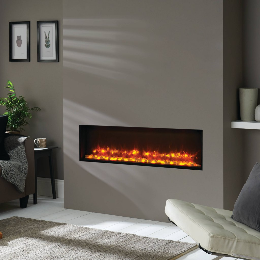 Gazco Fires, Radiance 105R Inset Electric Fire with Remote Control & Optional Fuel Bead Effect