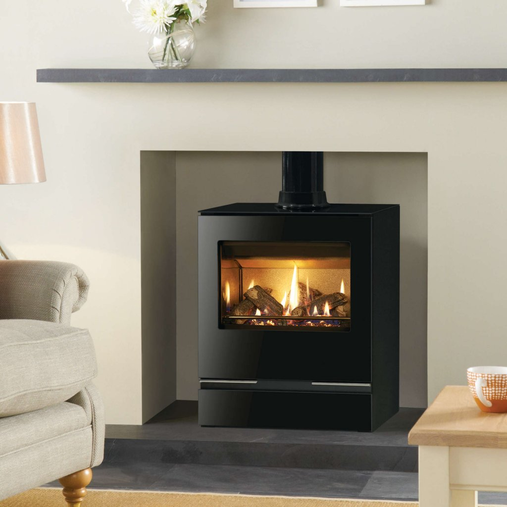 Riva Vision Medium Gas Stove - Balanced Flue