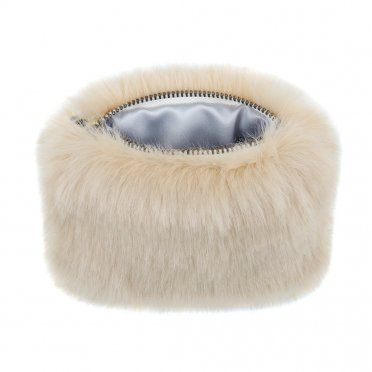 cbef350b23 Helen Moore Faux Fur Coin Purse - Sand