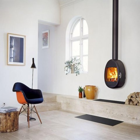 Scan 66-1 Wood Burning Stove - Available in Black, White or Green