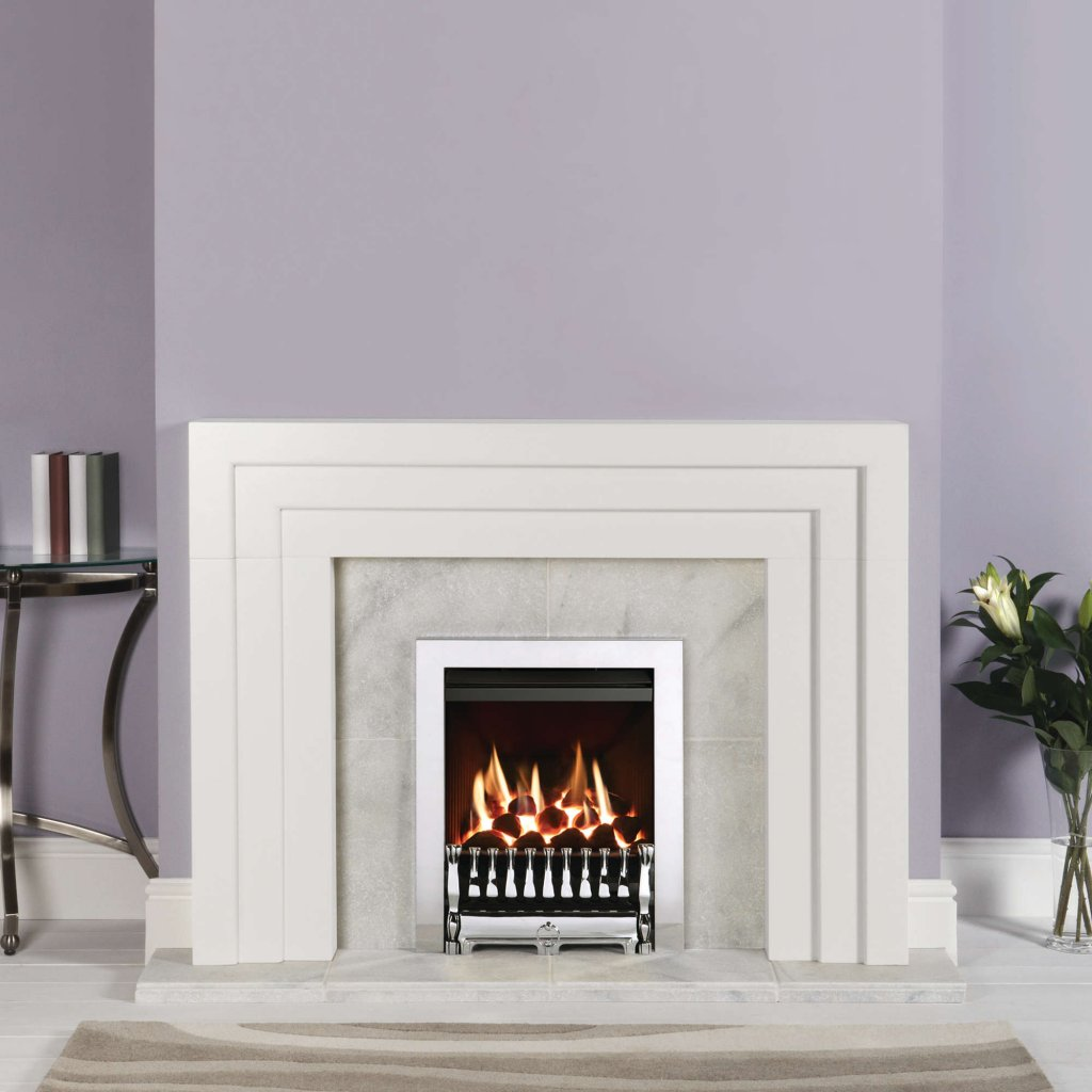Gazco Gas Fires - Logic HE Convector, Conventional Flue, Spanish Front