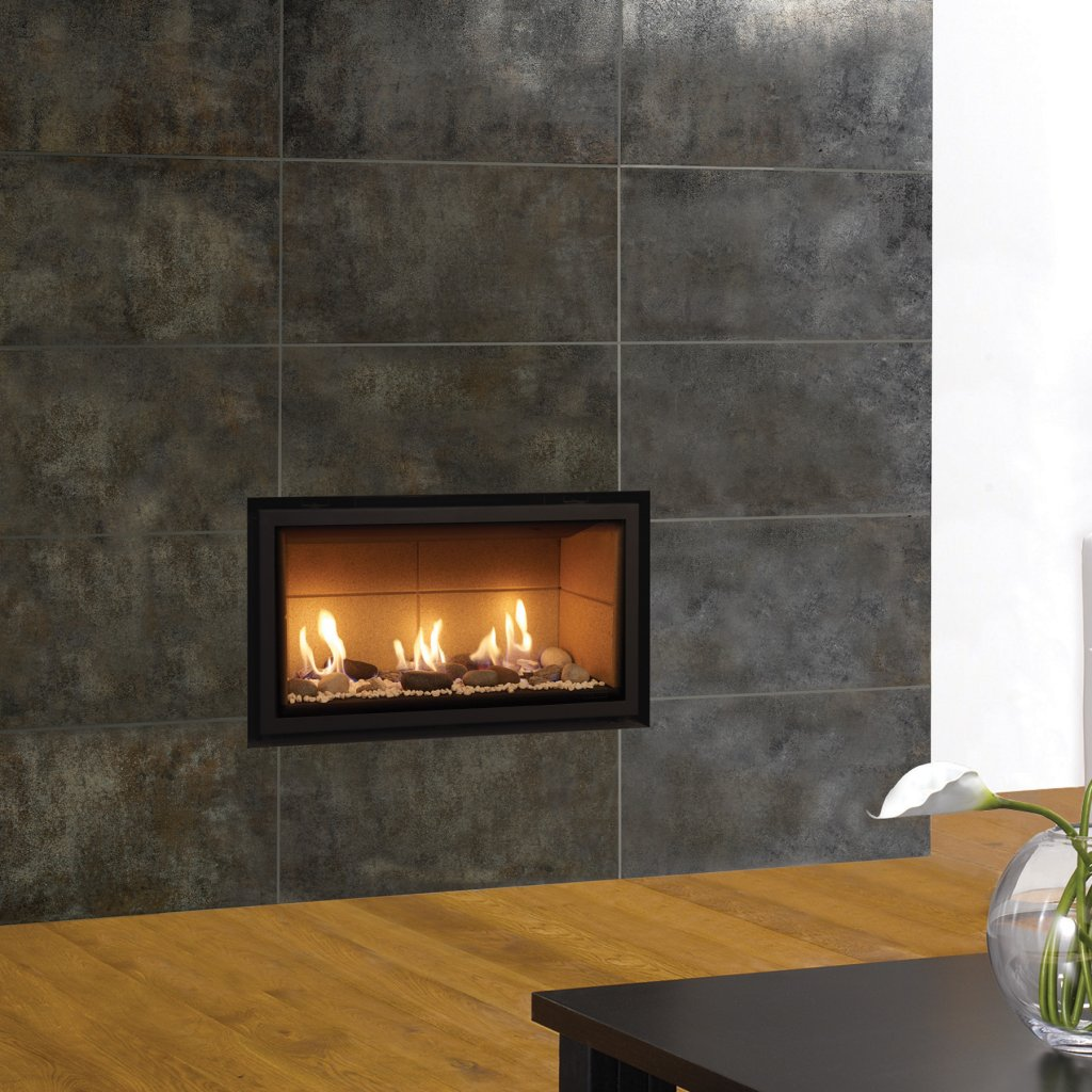 Gazco Gas Fires - Studio 1 Edge Glass Fronted Inset, Conventional Flue