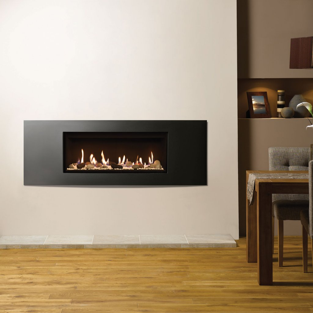 Gazco Gas Fires - Studio 2 Glass Fronted Inset, Verve Frame, Balanced Flue